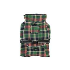 Alpine All-Weather Dog Coat Flannel — Green and Navy Plaid