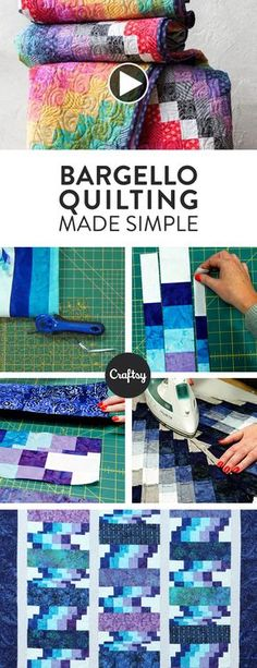Learn how to piece a rippling bargello quilt with this simple technique! Those waves of color will be easier to achieve than ever. Watch the video tutorial >> Motifs Bargello, Bargello Quilt Patterns, Bargello Quilts, Jellyroll Quilts, Scrappy Quilts, Quilting Tips, Quilting Tutorials, Quilting Projects, Quilting Designs