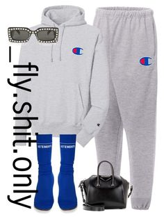 """""""Untitled #2705"""" by flyyshitonly ❤ liked on Polyvore featuring Champion, Vetements, Gucci and Givenchy"""