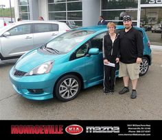 Monroeville Kia Mazda would like to say Congratulations to Alida Ciprian on the 2012 Honda Fit