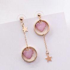 Gold Heart Stud Earrings/ Minimalist Earrings/ Heart Earrings/ Rose Gold Earrings/ Gift for Her/ Dainty Earrings/ Graduation Gift - Fine Jewelry Ideas Girls Earrings, Cute Earrings, Heart Earrings, Dangle Earrings, Diamond Earrings, Chandelier Earrings, Round Chandelier, Dainty Earrings, Pink Earrings