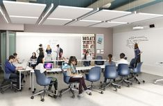 The STEAM seminar room offers flexible seating and desk arrangements along with dry erase walls for brainstorming, collaborative project work and discussion-based learning. Desk Arrangements, Dry Erase Wall, Flexibility, Innovation, The Neighbourhood, Walls, New York, Learning, Room