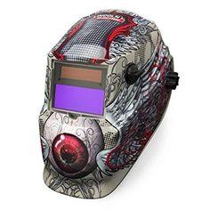 Auto Darkening Welding Helmet, Tan/Red, 600S, 9 to 13 Lens Shade