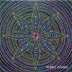 Handmade mandala paintings acrylic on canvas DIY fashion design art Handegemalte Acrylbilder auf Keilrahmen Kunst Esoterik Wandschmuck Wohndekor Mode crazylovemandala
