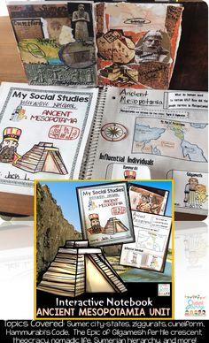 Ancient Mesopotamia Unit - 6th Grade Interactive Social Studies Notebook!