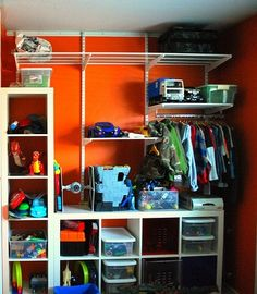 Organizing toys, shoes, clothes, etc. How to. #DIY #boys #closet by jaclyn