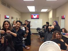 Bellus Academy National City students working on their color models in inspiration phase! #beauty #hair #styling