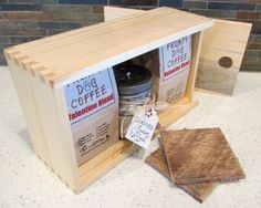 Valentine Coffee Box, Valentines Gift, Valentines, Box of Coffee, Roasted Coffee, Reclaimed Wood Box, Roasted Coffee, Wood Box