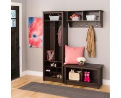 Space-Saving Entryway Organizer with Shoe Storage | Prepac - Canadian Furniture Manufacturing