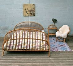 flechtmöbel schlafzimmer ideen bett rattanmöbel stuhl
