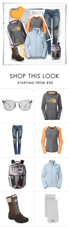 """North face: Ready Ice Blue"" by wanda-india-acosta ❤ liked on Polyvore featuring Dolce&Gabbana, The North Face and Balmain"