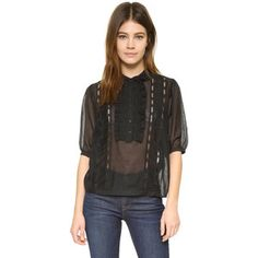 The Kooples Lace Detailed Top