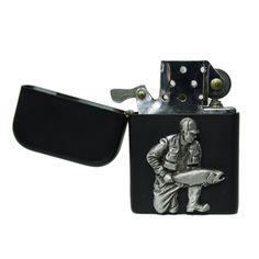Matte black fishing petrol lighter