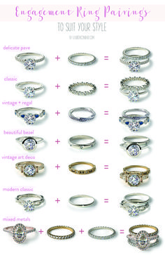 Wedding Bells: Our Favorite Engagement Ring + Wedding Band Pairings – Lauren Conrad