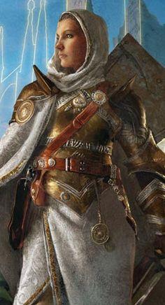 f Paladin Golden Platemail Armor Shield Cloak Sword Female 3d Fantasy, Fantasy Warrior, Fantasy Women, Medieval Fantasy, Female Armor, Female Knight, Paladin, Fantasy Inspiration, Character Inspiration