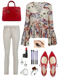 Floral style #fashion #outfitideas