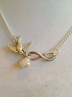 Bridal Infinity Pearl Necklace by joytoyou41 on Etsy, $22.00