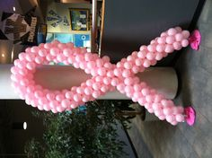 Breast Cancer balloon decoration ribbon. Could do any color variation.