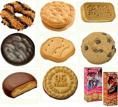Mmmmm Girl Scout Cookies.  I remember selling hundreds of boxes of these.  I LOVE THEM.