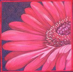 Gerbera by Sonya Prchal | Quilt Artist (New Zealand)