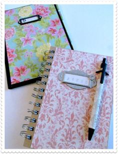 DIY Pretty Journals with Mod Podge and pretty papers
