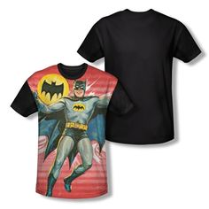 Batman Classic Tv - Wrong Question Adult Black Back 100% Poly T-Shirt