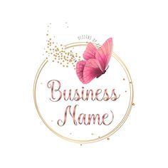 Butterfly Logo, Pink Butterfly, Butterfly Design, Butterflies, Vector Logo Design, Custom Logo Design, Custom Logos, Hanger Logo, Free Printable Banner Letters