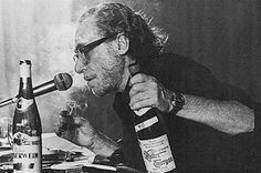 """""""Getting drunk was good. I decided that I would always like getting drunk. It took away the obvious and maybe if you could get away from the obvious often enough, you wouldn't become obvious yourself."""" —Charles #Bukowski, Ham on Rye"""