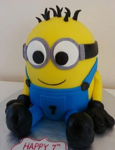 How to make bake a Despicable Me Minion cake step by step tutorial