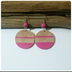 Check out this item in my Etsy shop https://www.etsy.com/listing/191119915/wood-dangle-earrings-stripe-bright