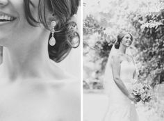 bridal portrait and earring detail