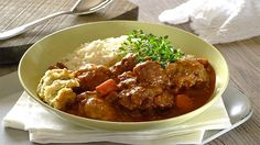 Slow Cooked Oxtail Stew With Dumplings