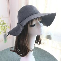 0630a79b8c3a2 100% Real Wool Fedoras Hats For Women Wide Brim Vintage Jazz Caps Casual  Soft Cashmere Fedora cap female gifts  orc32843858168  -  64.96    PopNobility