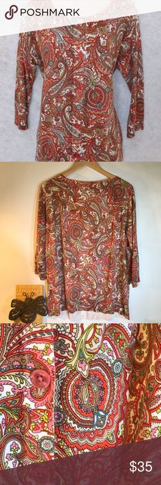 Talbots Paisley Cardigan Size 3XL. Never worn! Super cute with jeans! Talbots Sweaters Cardigans