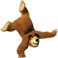 Masha and the Bear Transparent PNG Clip Marsha And The Bear, Bear Theme, Bear Party, Bear Birthday, The Good Dinosaur, Kawaii Chibi, Matryoshka Doll, Tigger, Dinosaur Stuffed Animal