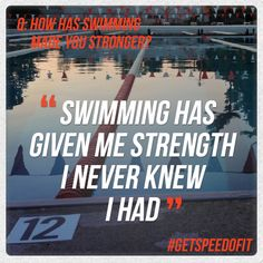 'Swimming has given me strength I never knew I had' #Speedo #Getspeedofit