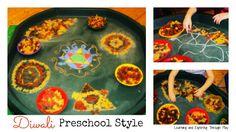 Learning and Exploring Through Play: Diwali Rangoli Patterns Preschool Art