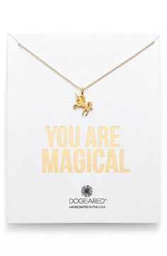 You Are Magical :: Unicorn Pendant Necklace