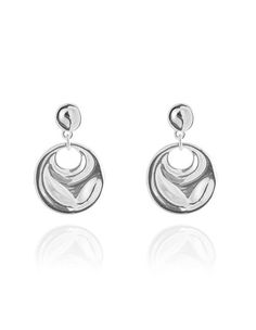 Beautiful rhodium earrings with hammered drop pendant work with any ensemble. Nickel and lead free inches long Pendant Earrings, Lead Free, Silver Rings, Drop, My Style, Clothes, Beautiful, Jewelry, Outfit