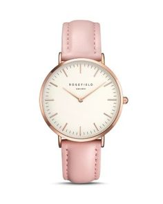Rosefield Tribeca Pink Leather watch with rose gold dial A smaller sized  watch for the more delicate wrist. With a watch case   a minimal design 8c9c040df5b