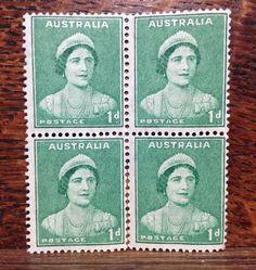 1937 Australia SG 180 Block of Four - MNH - Queen Elizabeth (Queen Mother)
