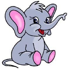Cute Cartoon Elephants | Baby Elephant Page 1 - Cute Cartoon Elephant Clip Art