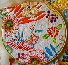 quilting birds in hoop | by peskybombolino