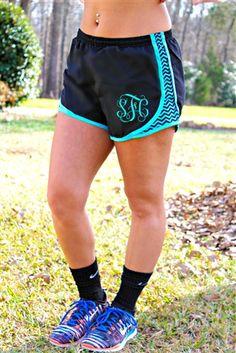Little Miss Muscle Shorts - Aqua Chevron $34.99 #SouthernFriedChics  I want these!!!