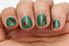 Inspiration on Ladybug Nail Art by Leticia Fontaine. Check out more Nails on Bellashoot. Beauty Make Up, Diy Beauty, Beauty Hacks, Hot Nails, Hair And Nails, Ladybug Nail Art, Great Nails, Nice Nails, Nailart