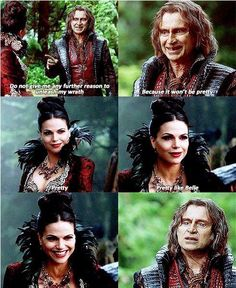 Awesome Evil Queen Regina and Rumple (Lana and Robert) #Once S4