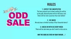 Odd Sale Rules Things To Buy, Greeting Cards