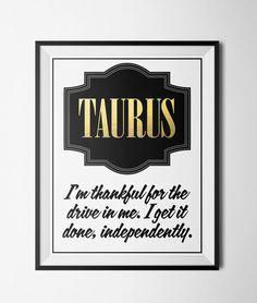 Taurus Quote Print