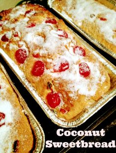 Coconut Sweetbread for Christmas and Thanksgiving