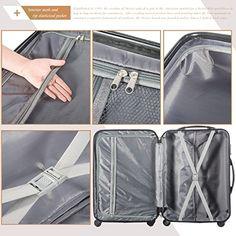 Amazon.com | Merax MT Imagine TSA Luggage Set 3 Piece Spinner Suitcase (Deep Gray) | Luggage Sets Luggage Reviews, Luggage Deals, Best Luggage, Samsonite Luggage, Lightweight Luggage, Spinner Suitcase, Leather Luggage, 3 Piece, Deep